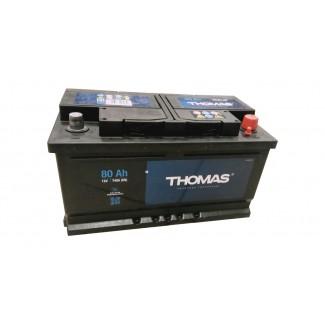 Аккумулятор 6CT-80 THOMAS (низкий)  THOMAS  Обратная полярность
