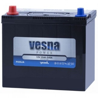 Аккумулятор 6СТ-55 VESNA  POWER JIS  Прямая полярность