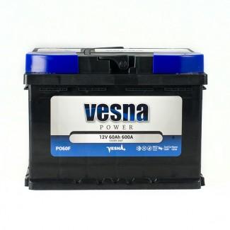 Аккумулятор 6СТ-60 VESNA  POWER   Обратная полярность
