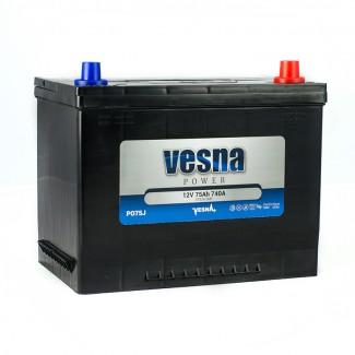 Аккумулятор 6CT-75 VESNA  POWER JIS  Обратная полярность