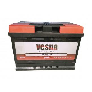 Аккумулятор 6CT-78 VESNA  РREMIUM  Обратная полярность