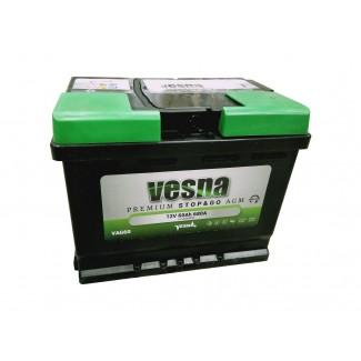 Аккумулятор 6СТ-60 VESNA   AGM  Обратная полярность