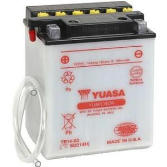 Аккумулятор 6СТ-14 YUASA  YB14-B2  Прямая полярность