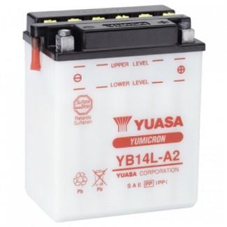 Аккумулятор 6СТ-14 YUASA  YB14A-A2  Прямая полярность