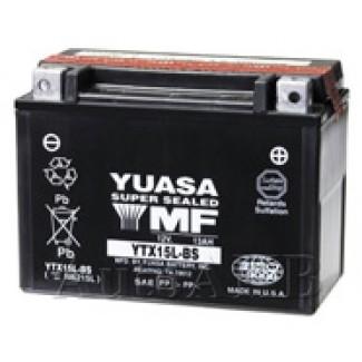 Аккумулятор 6СТ-13 YUASA  YTX15LB-S  Обратная полярность