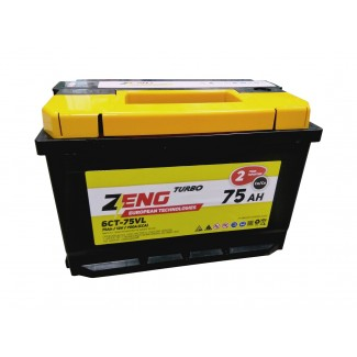 Аккумулятор 6СТ-75 ZENG    Обратная полярность